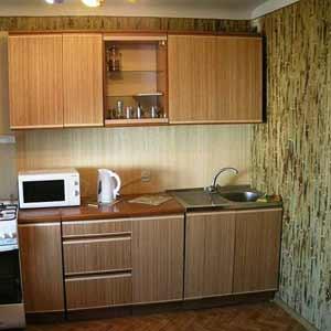 Обои из внешней части<br />бамбука на кухне