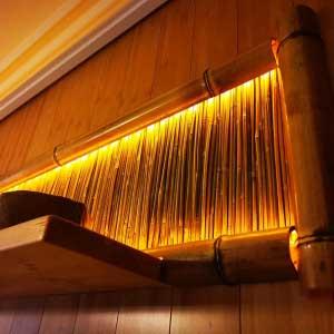 Бамбуковые половинки и бамбук