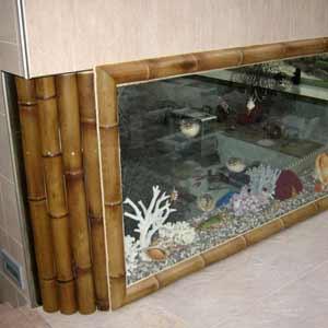 Оформление аквариума<br />бамбуком