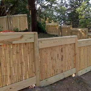 Ограждение из бамбуковых<br />стволов