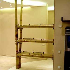 Витрина из бамбука