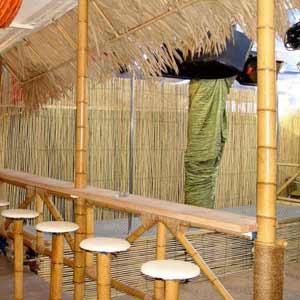Бамбук в интерьере.<br />Бамбуковый забор.