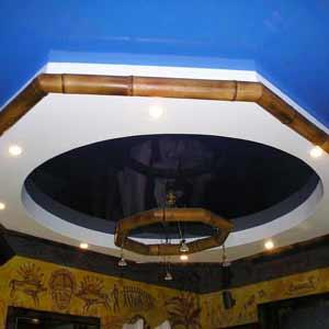 Бамбук в оформлении<br />потолка