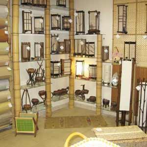Стволы бамбука в качестве<br />стеллажа