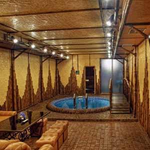 Оформление сауны бамбуком