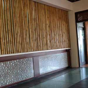 Бамбук в интерьере<br />ресторана