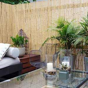 Бамбуковый забор в<br />качестве стены