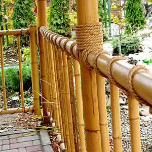 Бамбук и канаты из манилы