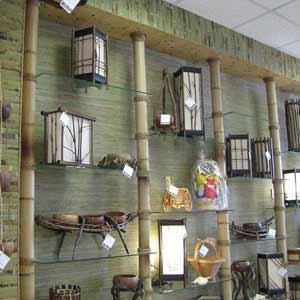 Бамбук и бамбуковые обои в<br />оформлении витрины