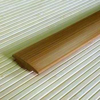 Планка из бамбука стыковочная кофе. Тон 1.