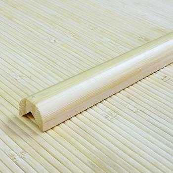 Планка из бамбука для внешнего угла натуральная