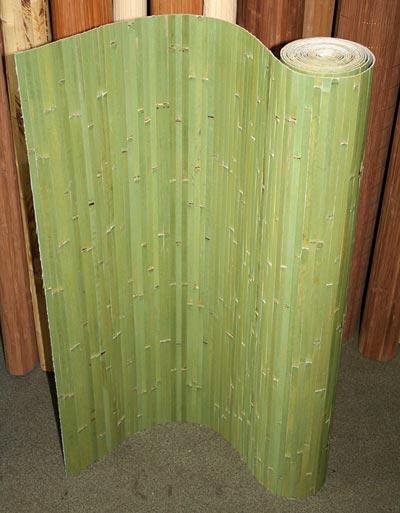 Бамбуковые обои фисташковые