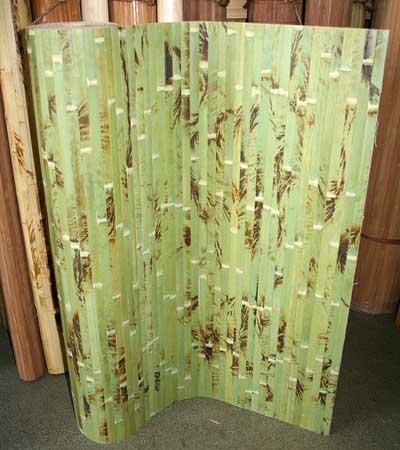 Бамбуковые обои фисташковыее с рисунком