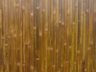 Бамбуковые обои коричневые